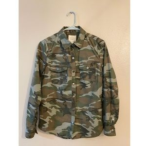 Forever 21 Camo button-up - Utility Jacket- Sz S